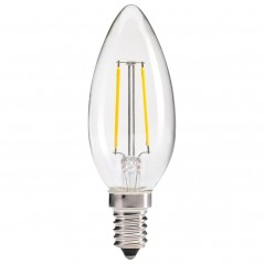LED filament bullet top 2W clear
