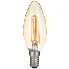 LED filament bullet top 2W golden