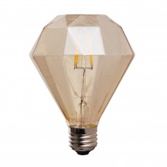 LED lamp filament diamond small 4W golden