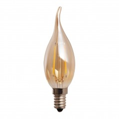 LED lamp filament flame 2W golden