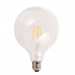 LED lamp filament globe extra large 4W clear