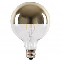 LED lamp filament globe extra large 4W gold reflect