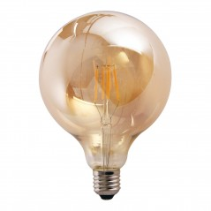 LED lamp filament globe extra large 4W golden