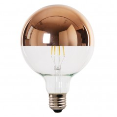LED lamp filament globe extra large 4W rose gold reflect