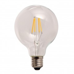 LED lamp filament globe large 4W clear