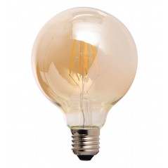 LED lamp filament globe large 4W golden