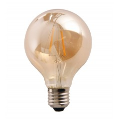 LED lamp filament globe medium 2W golden