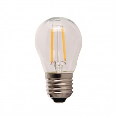 LED lamp filament globe small 2W clear