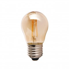 LED lamp filament globe small 2W golden
