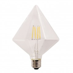 LED lamp filament pyramid large 4W clear