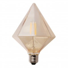 LED lamp filament pyramid large 4W golden